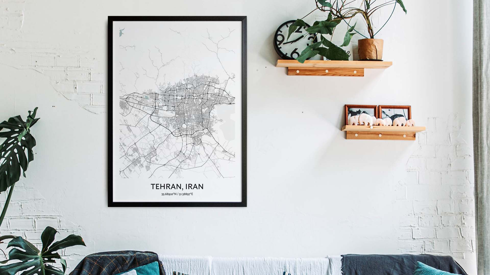 Tehran map art