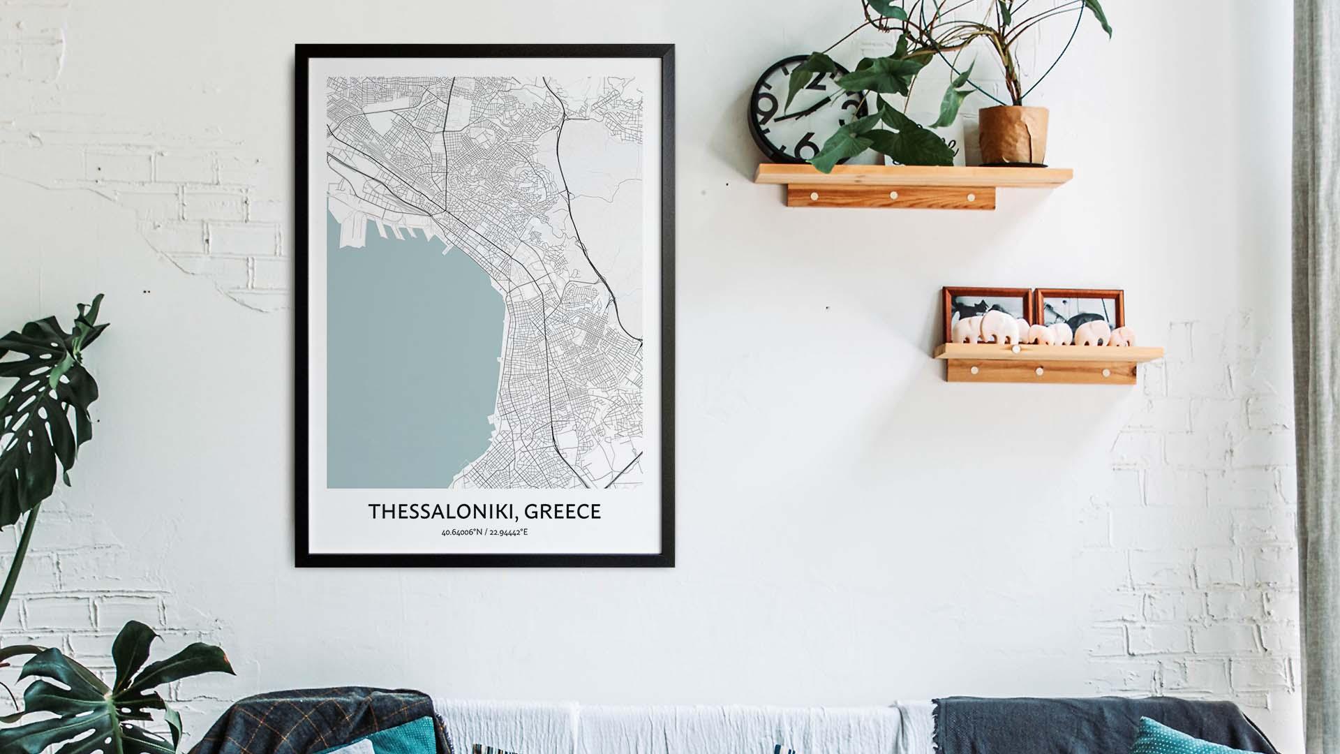 Thessaloniki map art