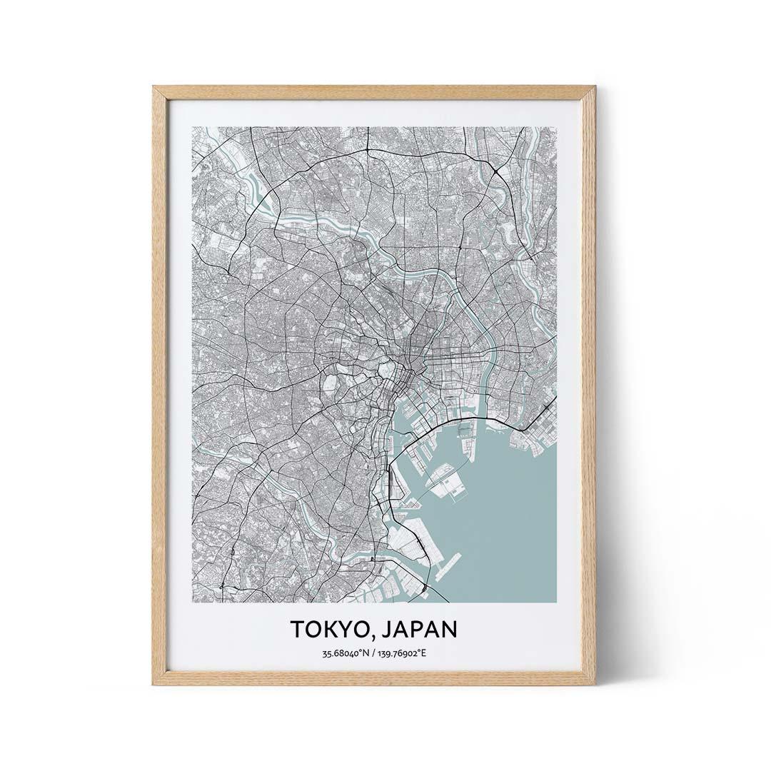Tokyo city map poster