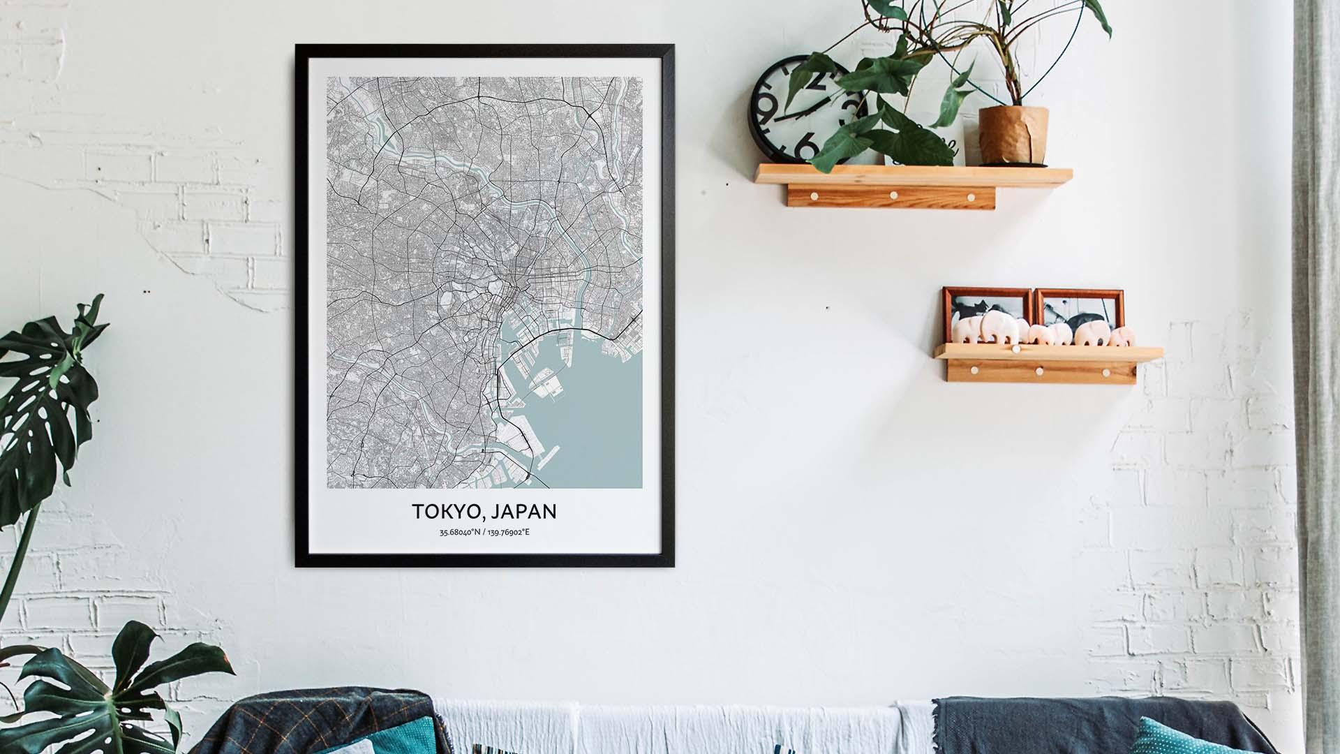Tokyo map art