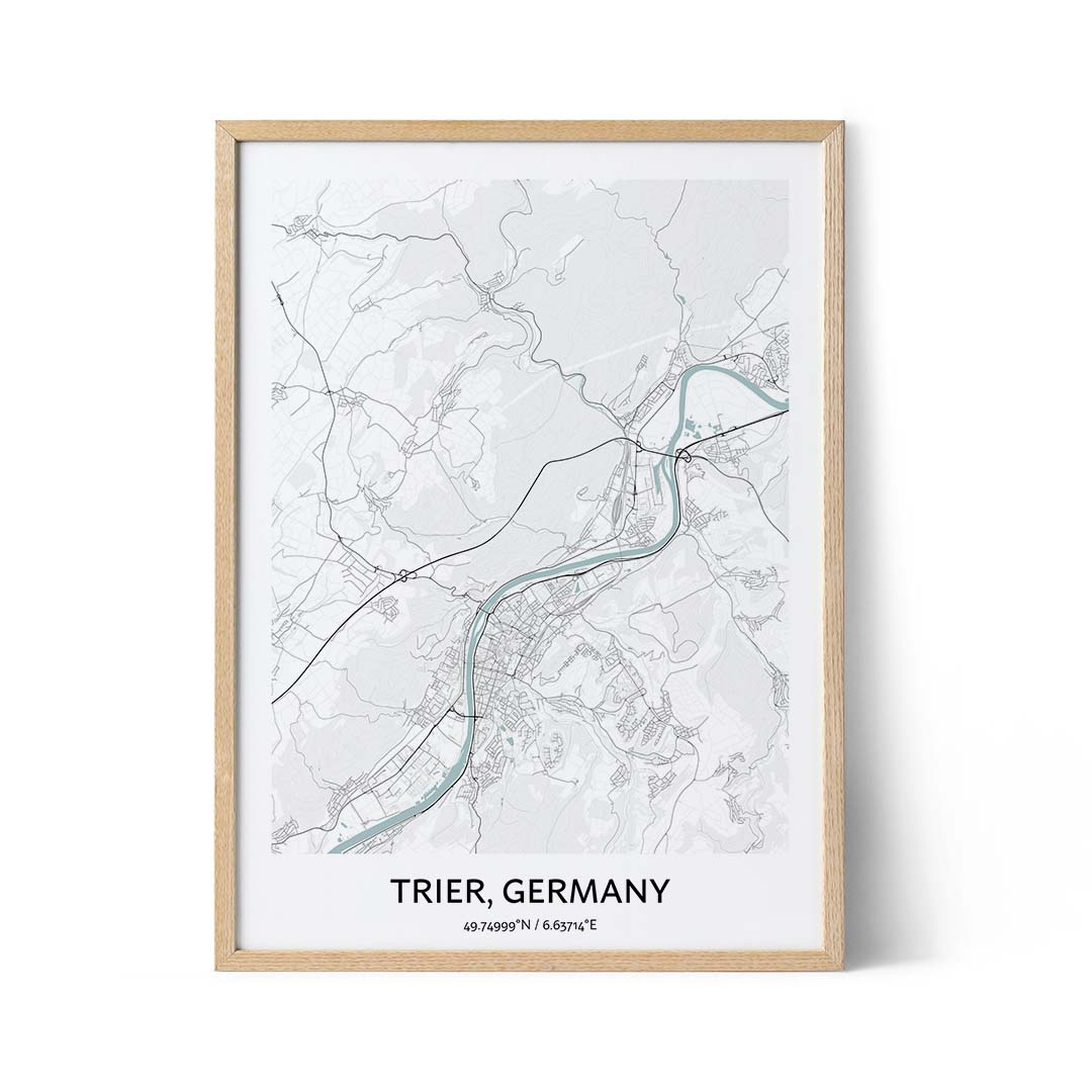 Trier city map poster
