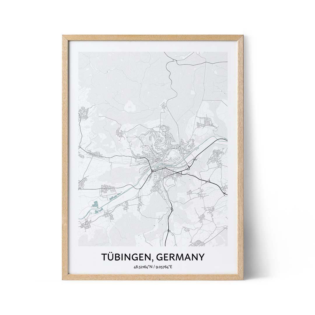 Tubingen city map poster