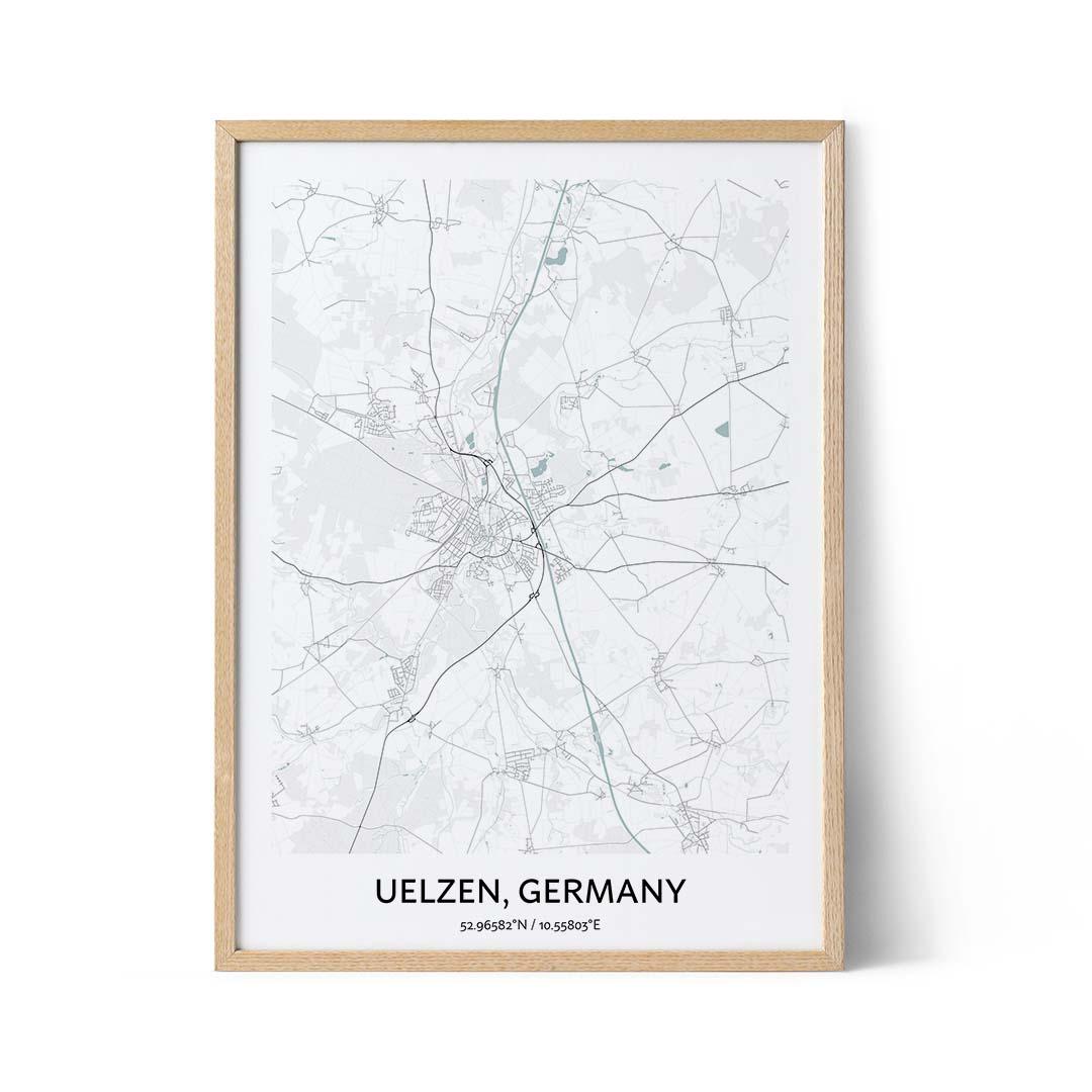 Uelzen city map poster