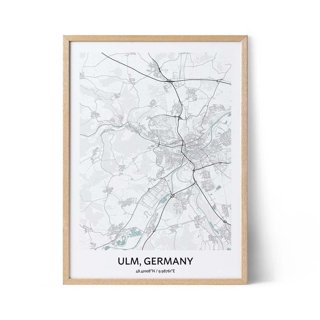 Ulm city map poster