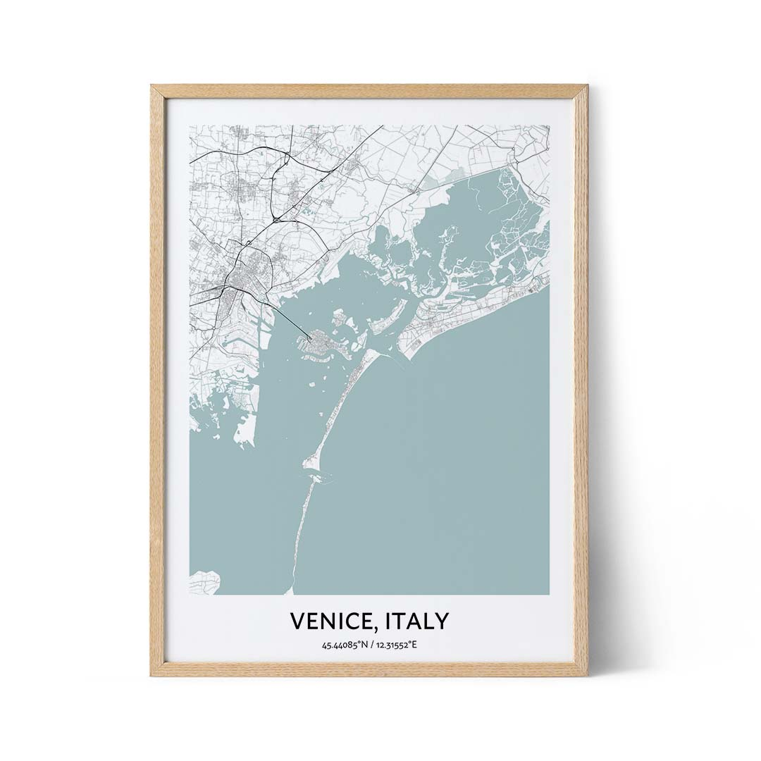 Venice city map poster