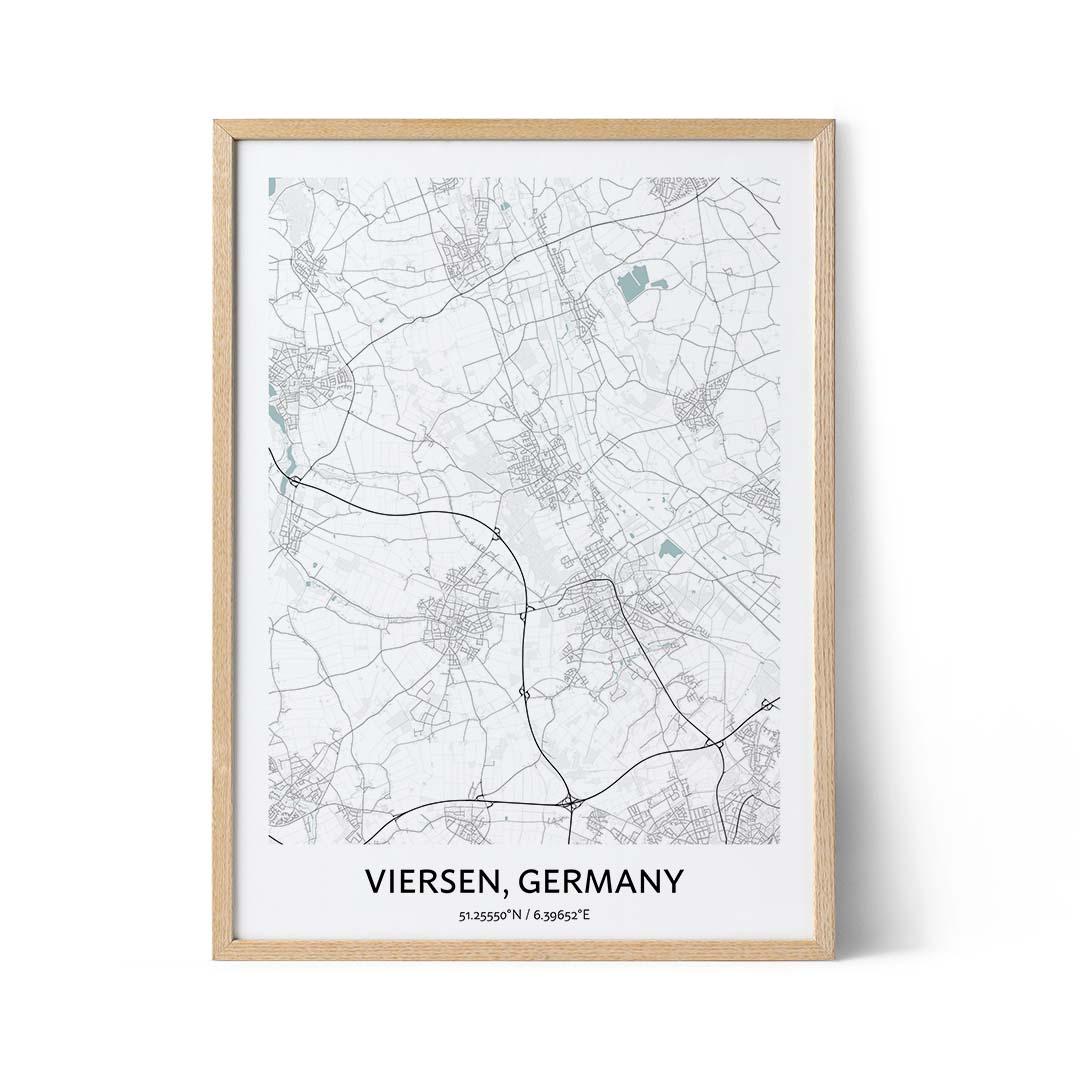 Viersen city map poster