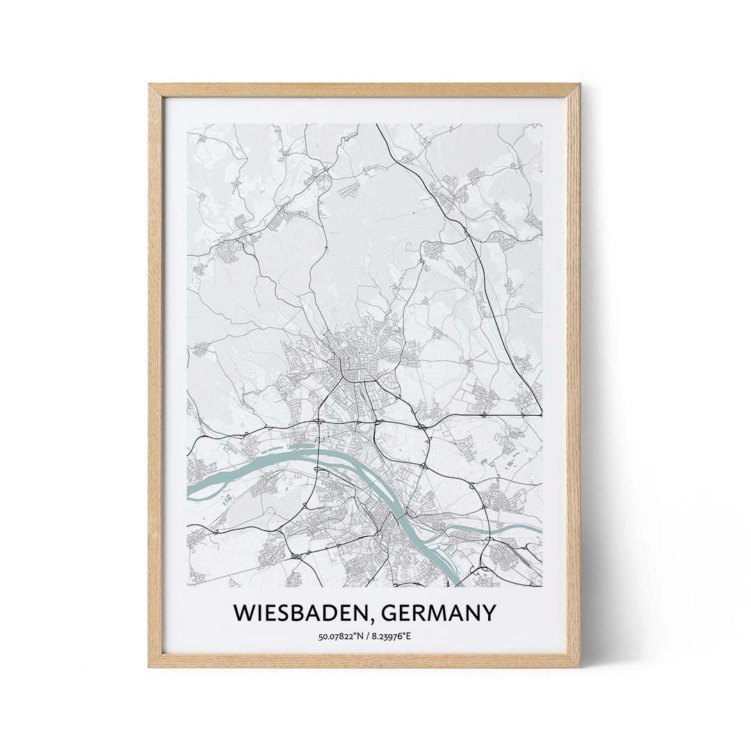 Wiesbaden city map poster
