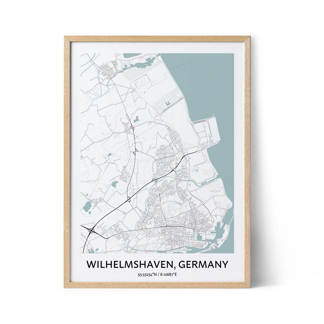Wilhelmshaven city map poster