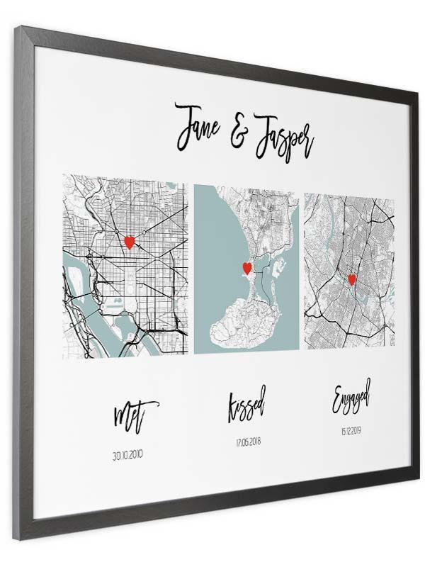 met kissed engaged map
